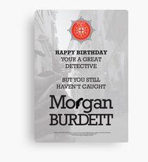 Morgan Burdett Detective Birthday Card Canvas Print