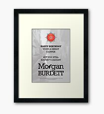 Morgan Burdett Copper Birthday Card Framed Print