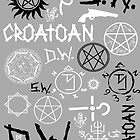 SPN Angel and Demon Sigils (Black/white version) by kurticide