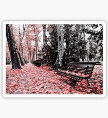 Red Bench Sticker