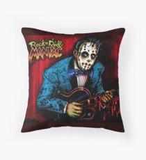 Rock n Roll Maniac Rockabilly Throw Pillow