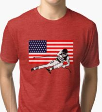 American Alpine Ski Tri-blend T-Shirt
