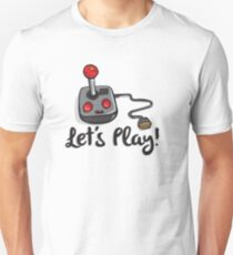 Old School Gaming Joystick - Let's Play Unisex T-Shirt