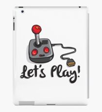 Old School Gaming Joystick - Let's Play iPad Case/Skin