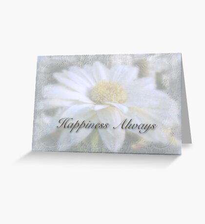Wedding Happiness Greeting Card - White Gerbera Daisy Greeting Card