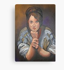A Young German Woman In Traditional Dress Canvas Print