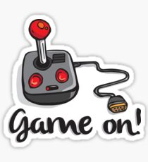 Game on! - Old school 80's computer Joystick Sticker