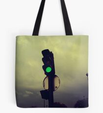 traffic lights in paris Tote Bag