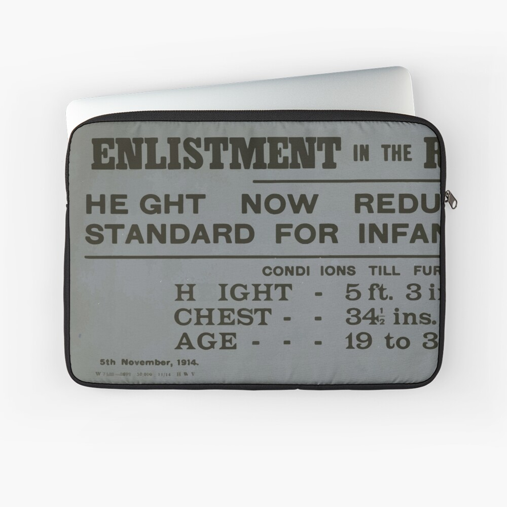 Enlistment in the regular army Height now reduced to normal standard for infantry of the line 077 Laptoptasche