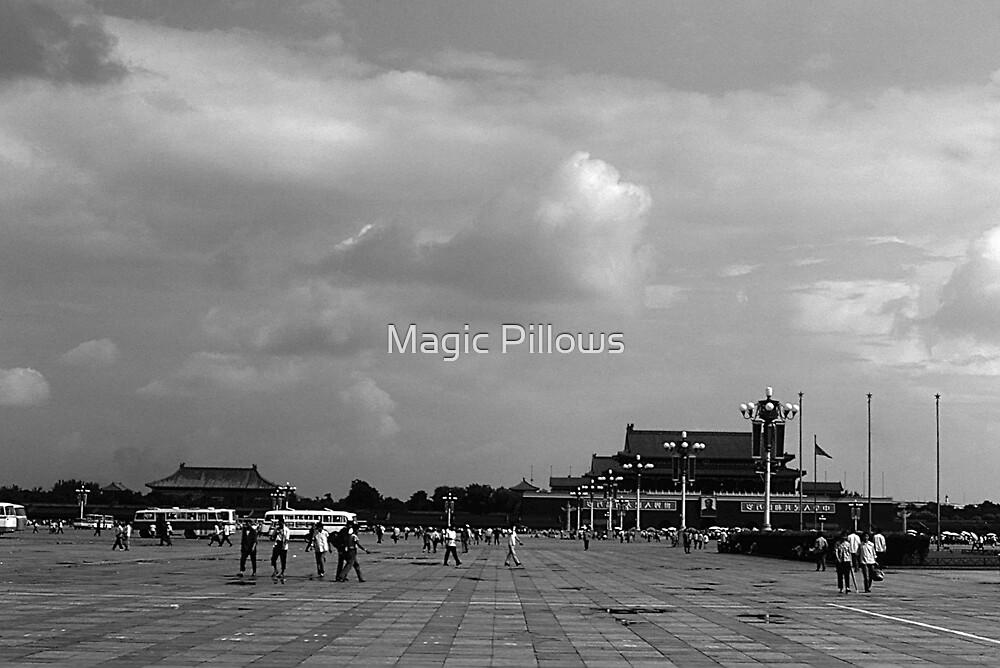 BW China pekin Tiananmen square 1970s by blackwhitephoto