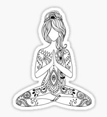 Yoga Om Chakras Mindfulness Meditation Zen 3 Sticker