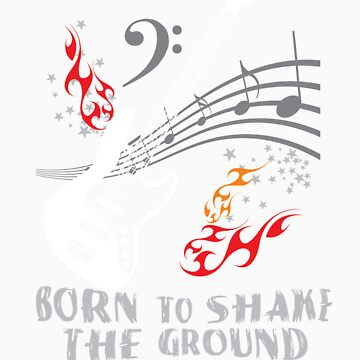 Born to Shake the Ground - Jazz Bass by larissaredeker