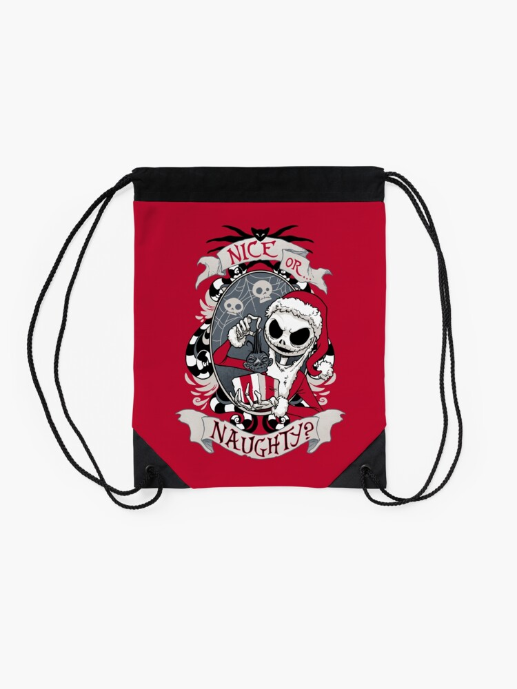 Alternate view of Scary Santa Drawstring Bag