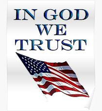American, Official MOTTO, In God we trust, USA, US, America, Americana, Poster
