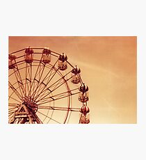 Redscale Ferris Wheel Photographic Print