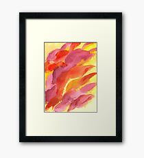 Red, Orange and Yellow Abstract Framed Print