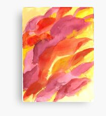 Red, Orange and Yellow Abstract Canvas Print