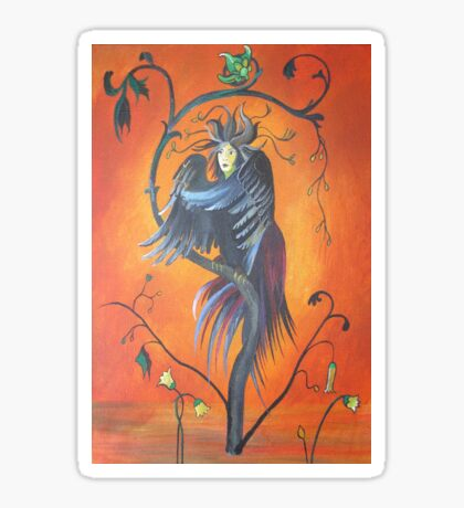 Gamaun The Prophetic Bird With Ruffled Feathers Sticker
