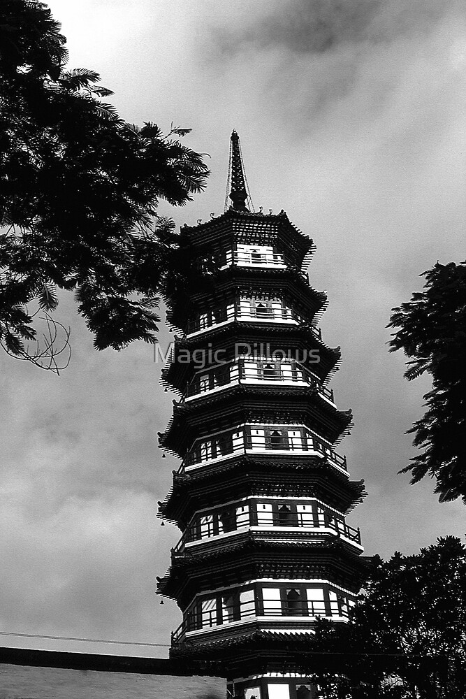 BW China Canton the flowery pagoda 1970s by blackwhitephoto