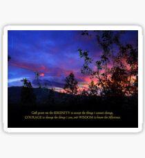 Serenity Prayer Spring Sunrise Sticker