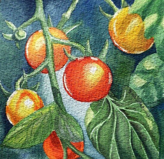 Cherry Tomatoes by Irina Sztukowski