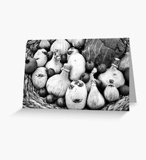 THERE IS A FUNNY FACE POTATO THERE!!! Food in B&W  Greeting Card