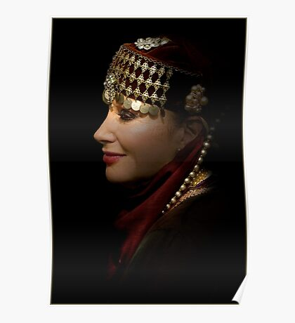 portrait of a gypsy woman Poster