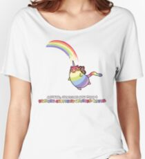 Rainbow Butterfly Unicorn Kitten Women's Relaxed Fit T-Shirt