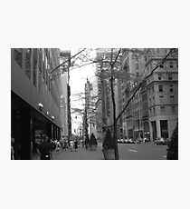 BW USA Washington Street 1970s Photographic Print