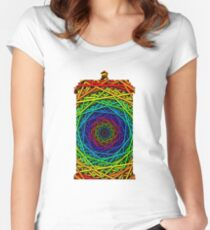 Doctor Who's TARDIS - Rainbow Vortex Abstract Women's Fitted Scoop T-Shirt