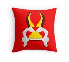 Minimalist King of Red Lions (Mascarón Rojo) Throw Pillow