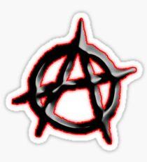 ANARCHY, ANARCHIST, Politics, Revolution, Protest, Disorder, Unrest, Symbol on red in black Sticker