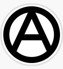 ANARCHY, Anarchist, Revolution, Rebellion, Revolt, Protest, Unrest, Disorder, Symbol, in black Sticker