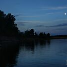 Moon over Barren River Lake by Nicole  McKinney