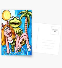 Kermeature From The Black Lagoon Postcards