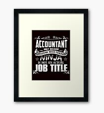 Proud Accountant Framed Print