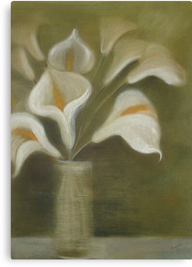 Moody Arum Calla's In A Vase by taiche