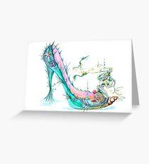 Mermaid Slipper Greeting Card