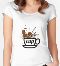 wake cup Women's Fitted Scoop T-Shirt