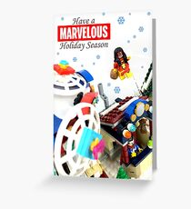 """""""Marvelous"""" LEGO Holiday Card Collection Greeting Card"""
