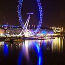 London Eye Reflection by Llewellyn Cass