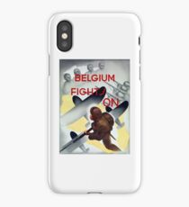 Belgium Fights On -- WW2 Poster iPhone Case