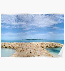 Saunders Beach in Nassau, The Bahamas Poster