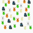Halloween Rabbits T-shirt by Zozzy-zebra