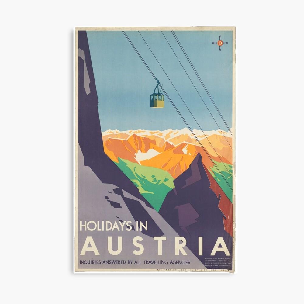 Weinleseplakat - Österreich Leinwanddruck