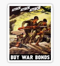 Buy War Bonds -- WW2 Propaganda Sticker