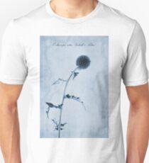 Echinops ritro 'Veitch's Blue' Cyanotype Unisex T-Shirt