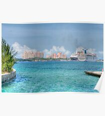 Atlantis Towers and Cruise Ships in Nassau, The Bahamas Poster