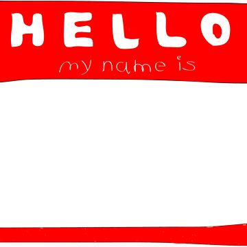 my name is name tag by buselikmakami