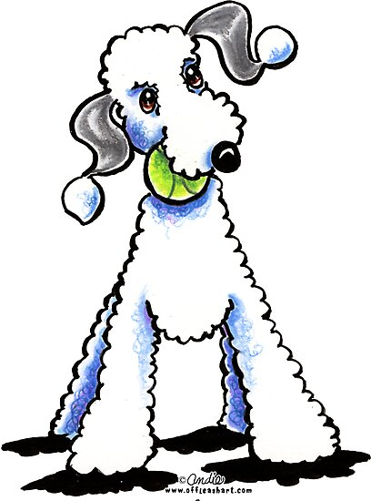 Bedlington Terrier Let's Play by offleashart